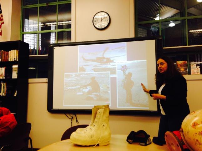 Lynn Reed presenting
