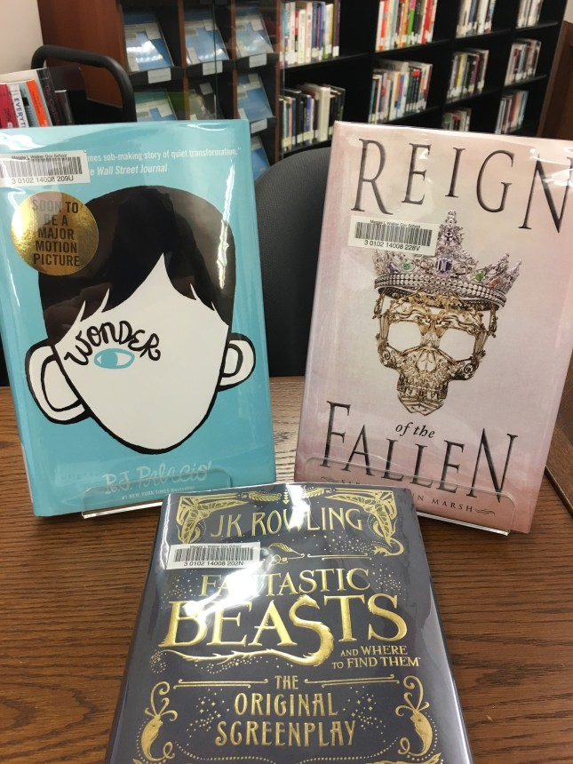 Wonder, Reign of the Fallen, and Fantastic Beasts - three new books in the library