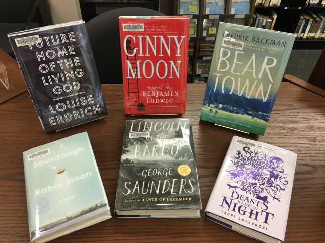six new books in the library